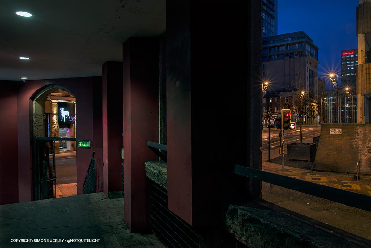 Tib Street Manchester at dawn