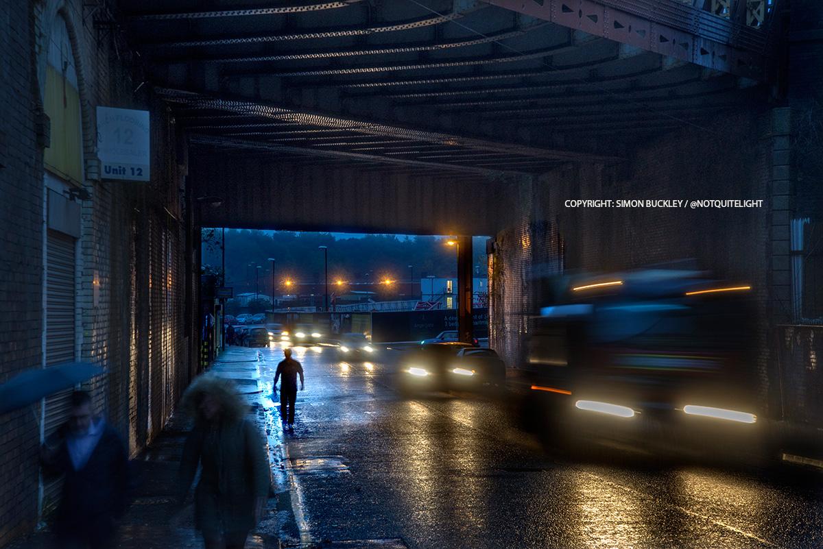 dantzic street manchester at dawn