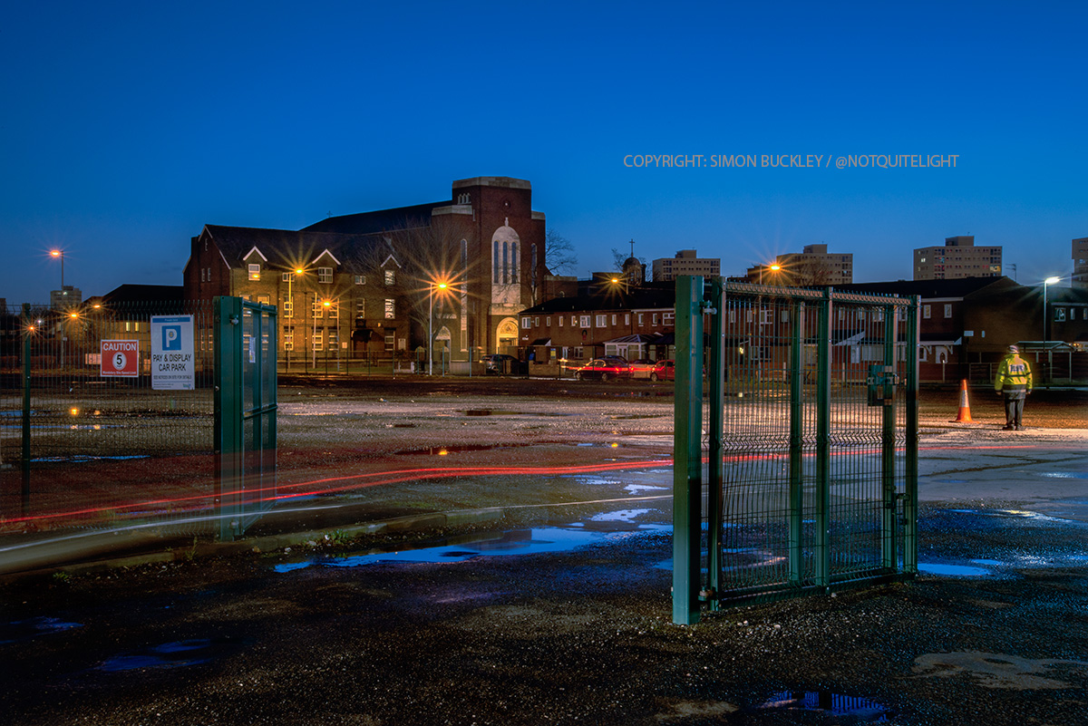Rochdale road Manchester at dawn