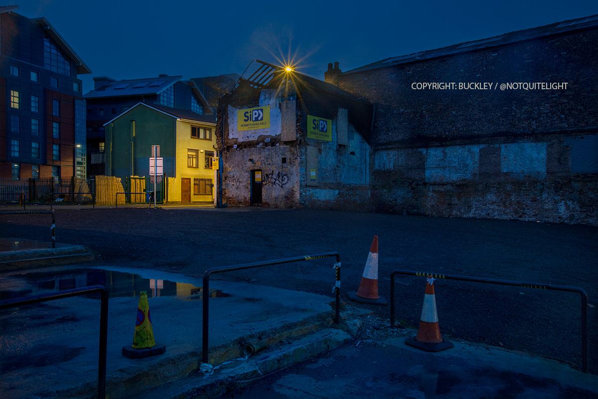 port street manchester at dawn