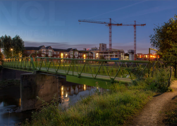 Riverside Irwell Salford dawn