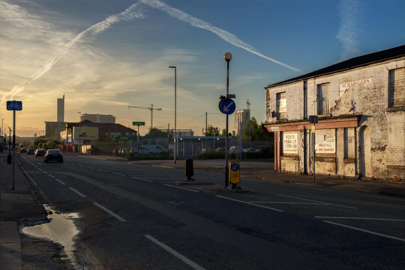 Liverpool Street, Salford, dawn