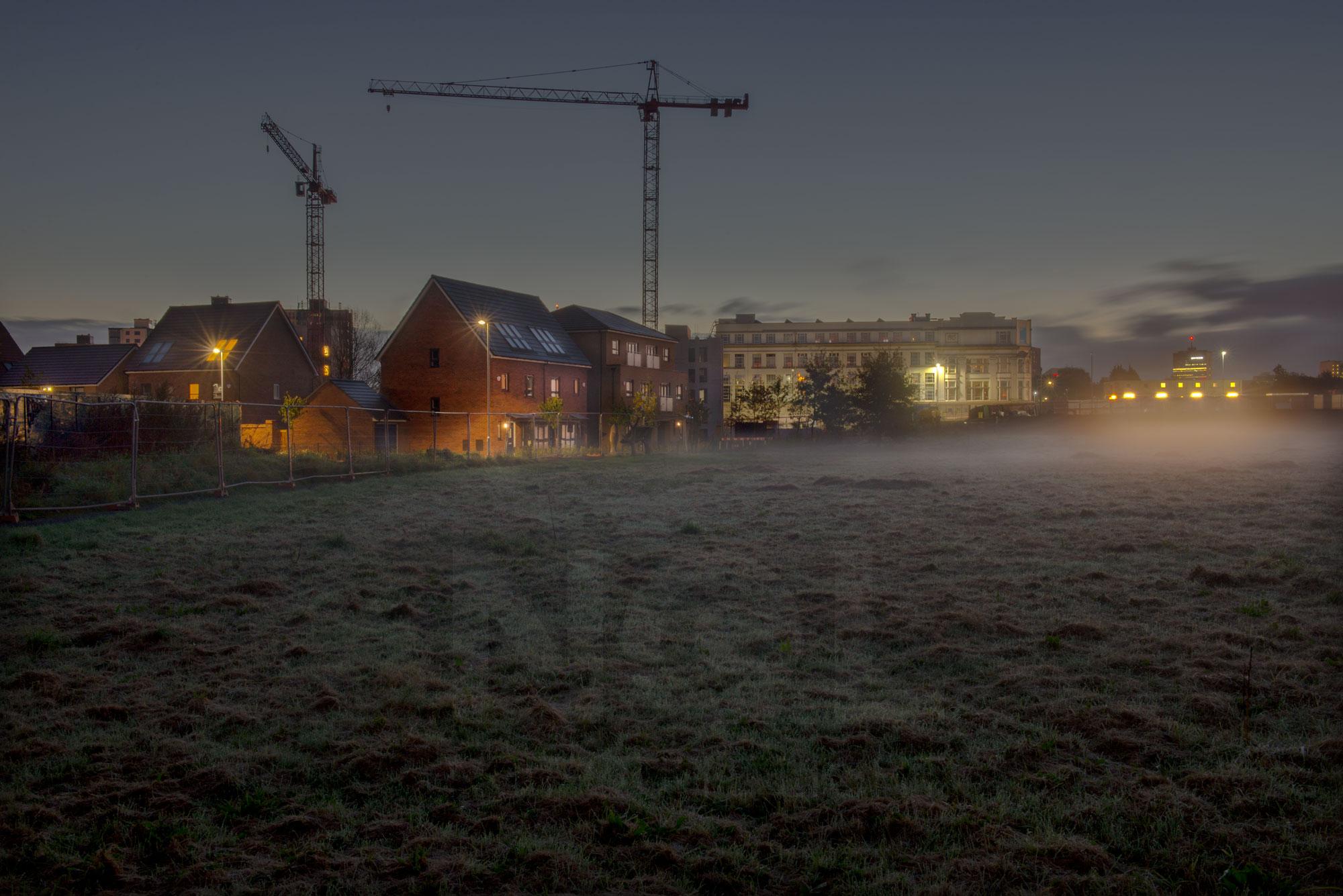 salford meadow at dawn