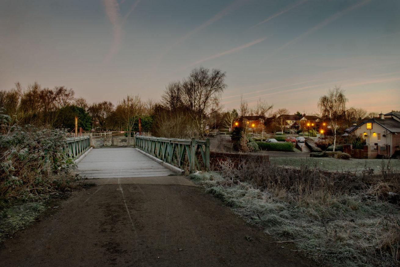 bridgewater canal salford winter