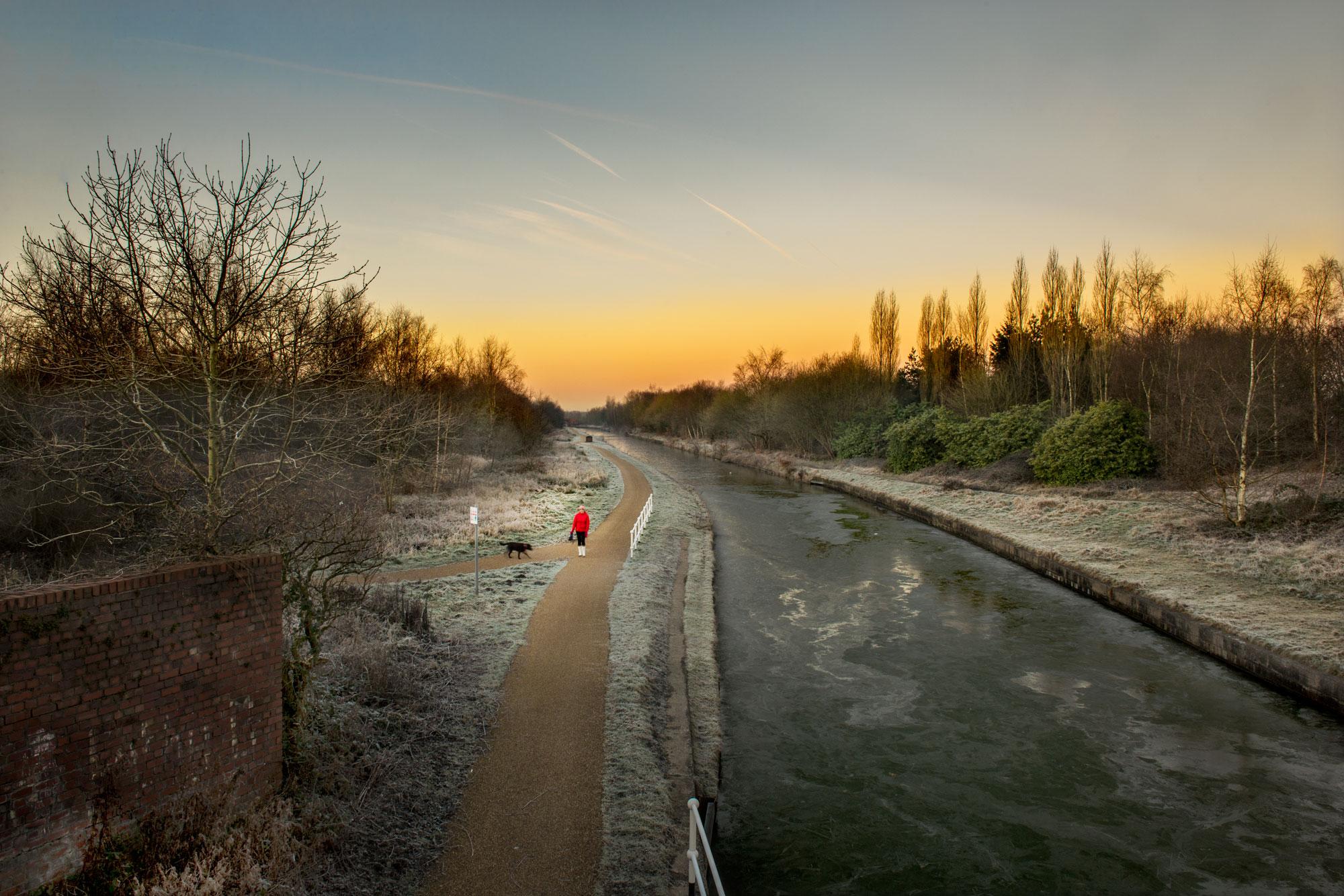 exploring-bridgewater-canal-salford-winter