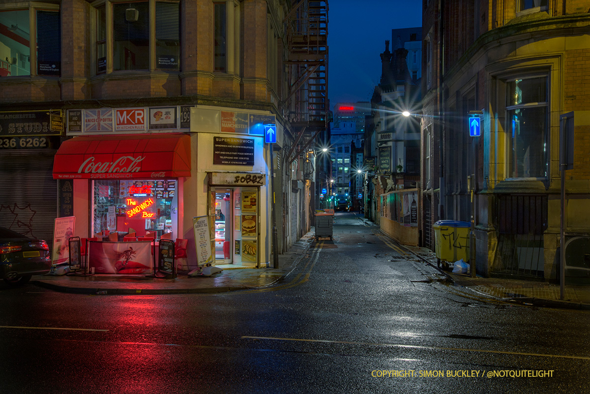 newton street manchester at dawn