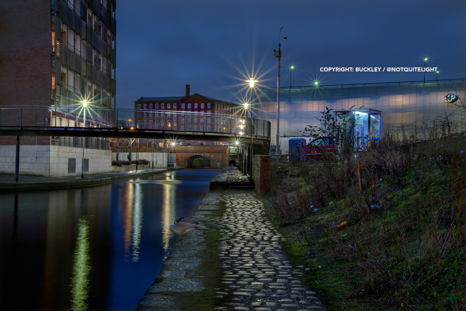 rochdale canal at dawn