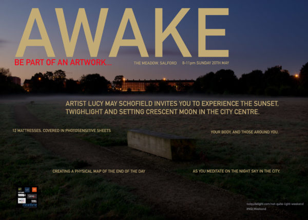 not quite light weekend event may salford art performance dusk