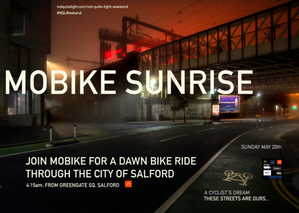 not quite light weekend event may salford dawn biuke ride mobike