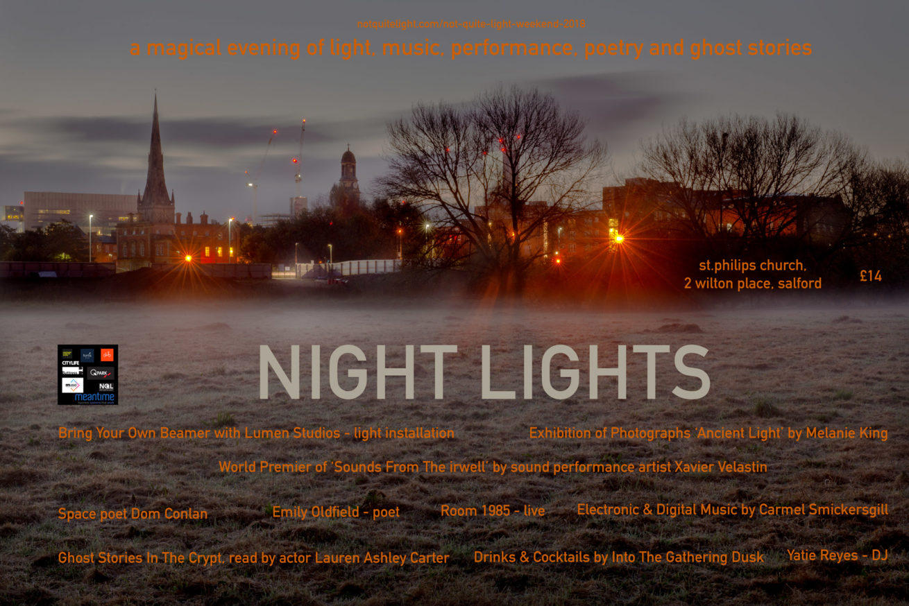 not quite light weekend event may salford art music performance