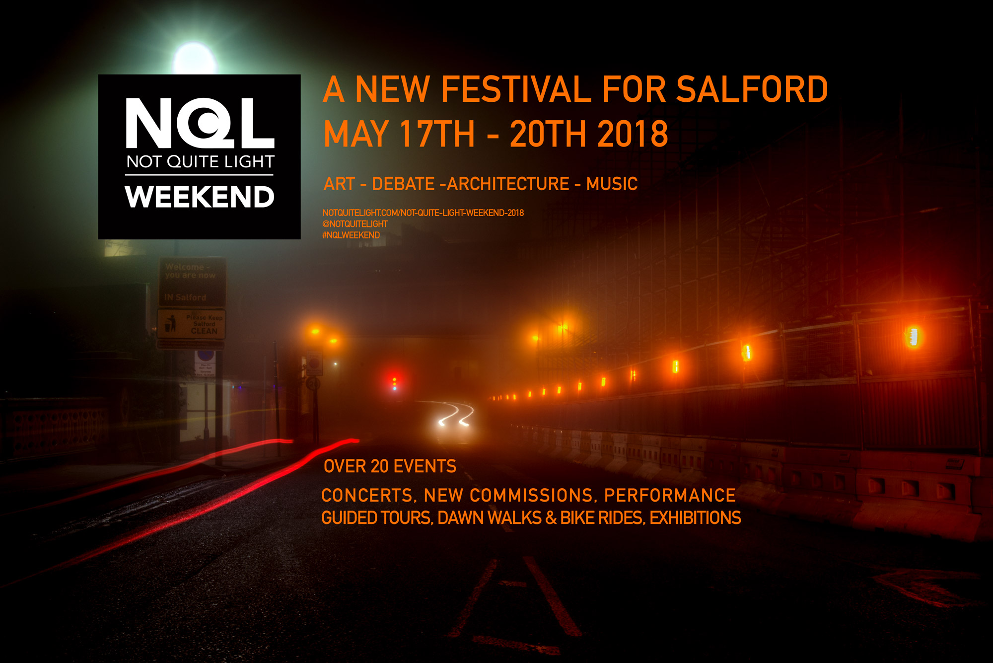 not quite light weekend 2018 salford events may arts