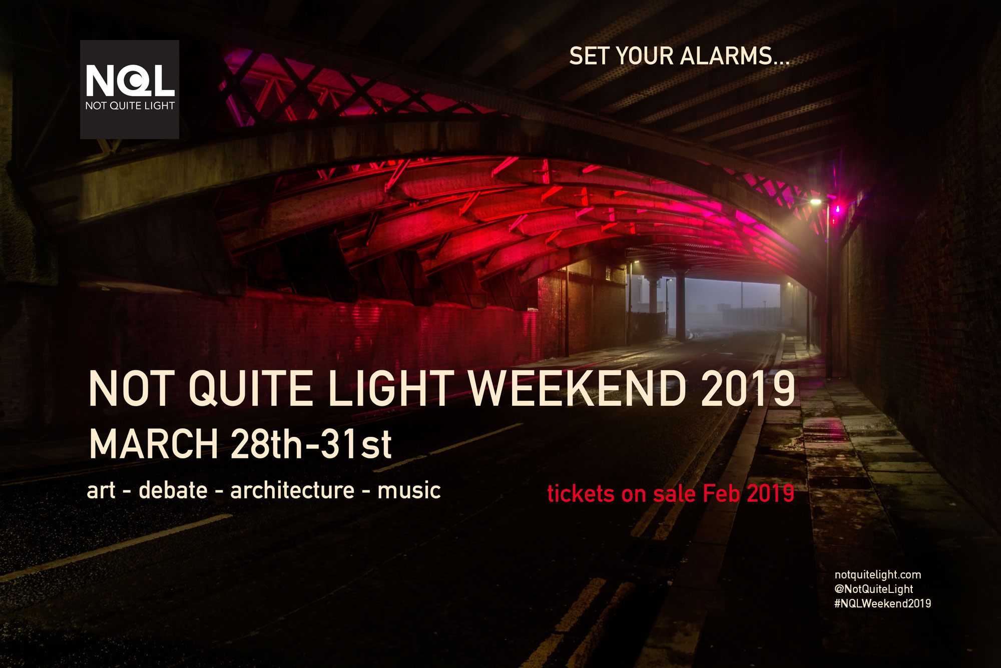 the not not quite light weekend 2019 in salford