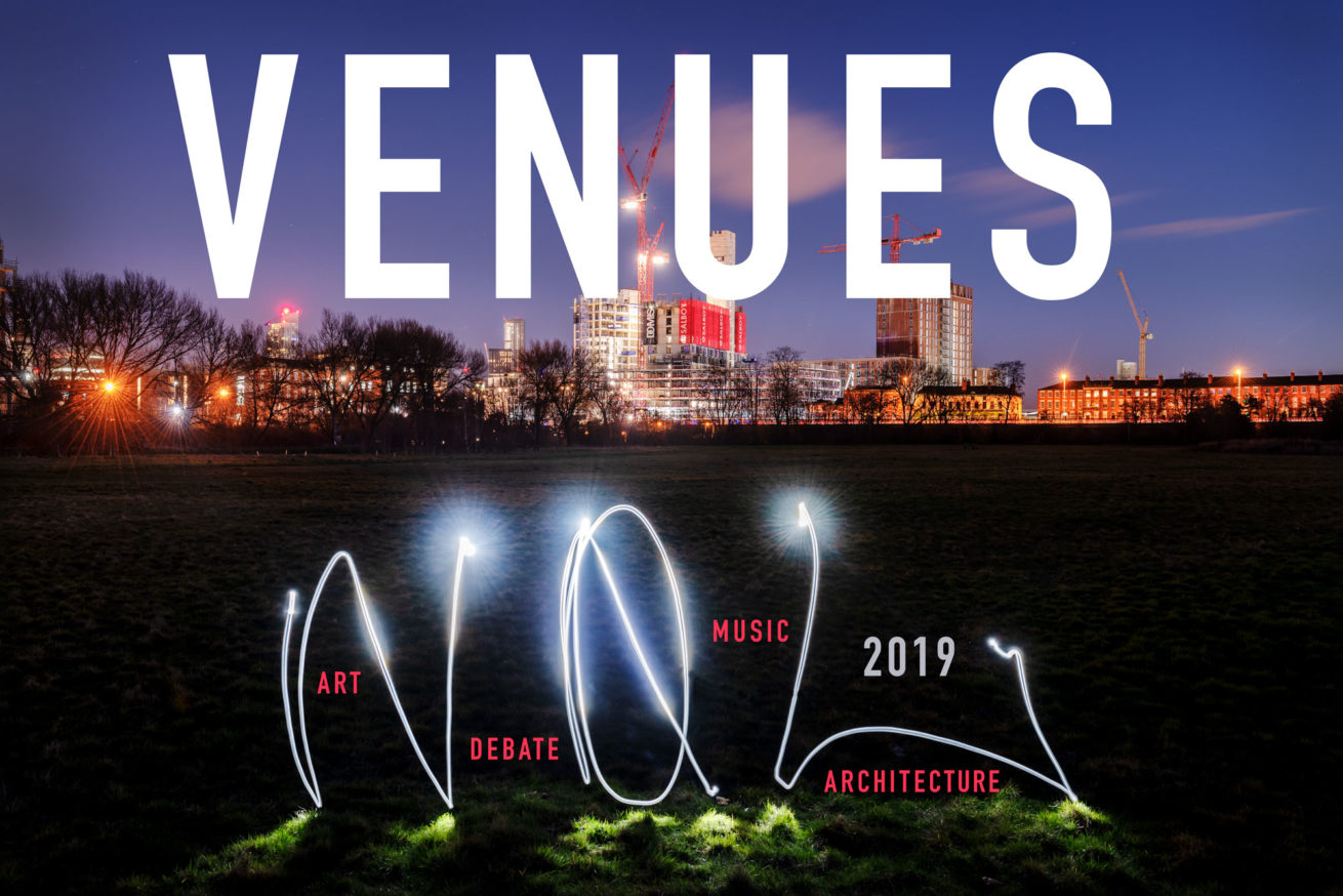 a list of the venues being used at not quite light 2019 in Salford